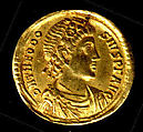 Gold Solidus of Theodosius I (379–95), Gold, Byzantine