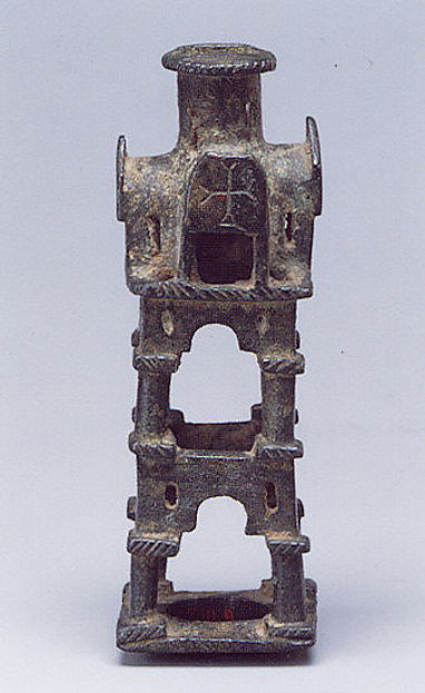 Base for a Cross, Copper alloy, cast, filed, reamed, and scraped, Byzantine