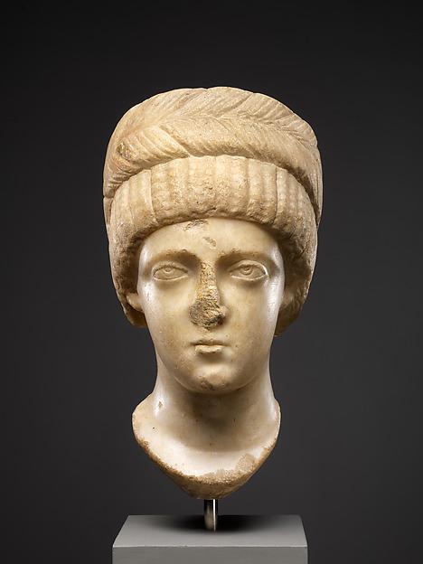 Head, Possibly of Empress Flaccilla, Marble, Byzantine