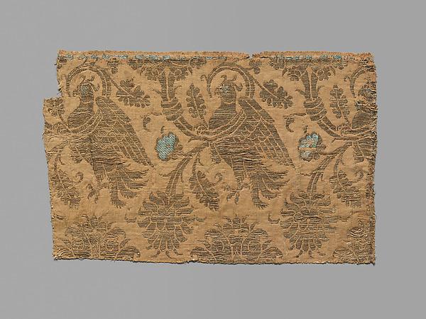 Textile, Silk, metal thread, Italian