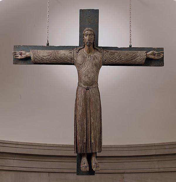 Crucifix, Wood with polychromy, North Italian