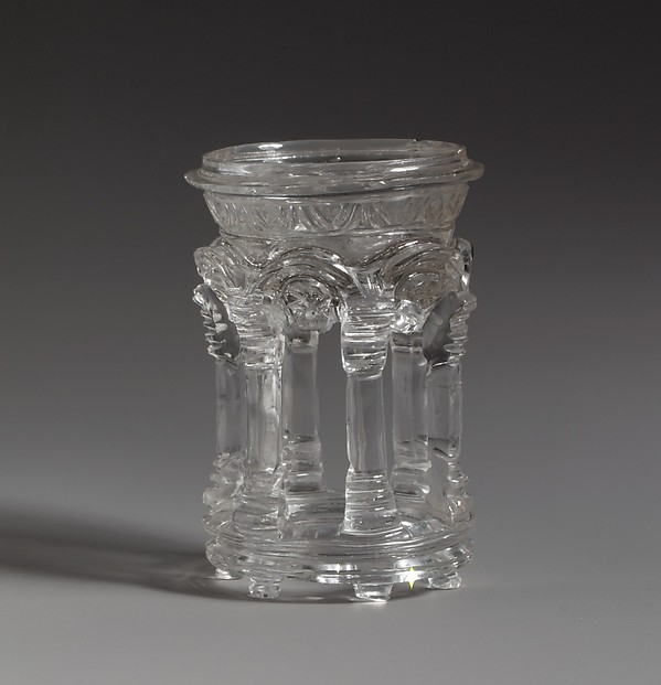 Rock Crystal Dish in the Form of a Temple, Rock crystal, Roman or Byzantine