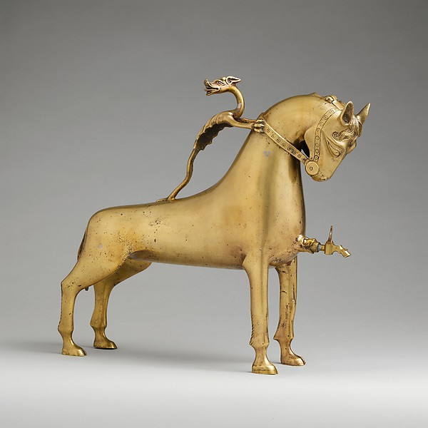 Aquamanile in the Form of a Horse, Copper alloy, German