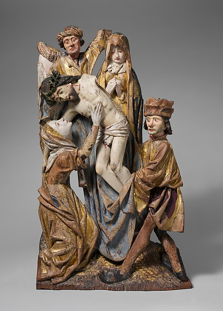 Descent from the Cross, Limewood with paint, South Netherlandish