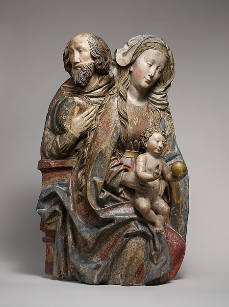 Holy Family, Niclaus Weckmann (1481–1528), Limewood with traces of paint and gilding, South German