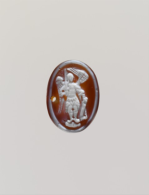Cameo with the Archangel Michael, Sardonyx, Byzantine