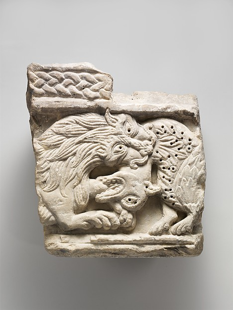 Fragment of an Animal Relief, Marble (Lunense marble from Carrara), Italian