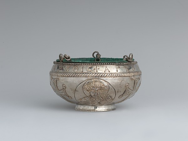 The Attarouthi Treasure - Censer, Silver and gilded silver with copper liner, Byzantine