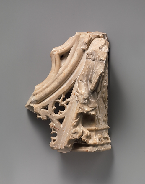 Architectural Fragment, Marble, French