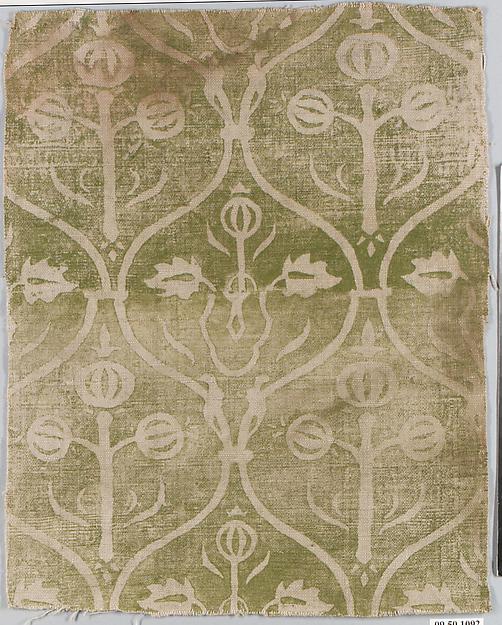 Printed Textile, Linen, German