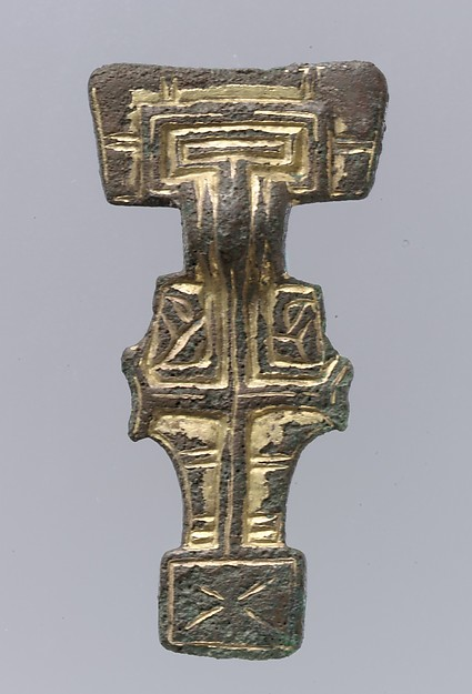 Square-Headed Brooch, Silver-gilt, Anglo-Saxon