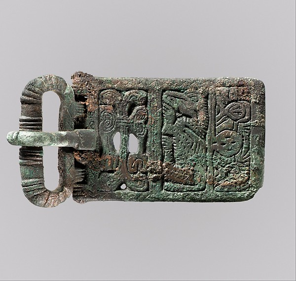 Belt Buckle, Copper alloy, tinned surface, Frankish