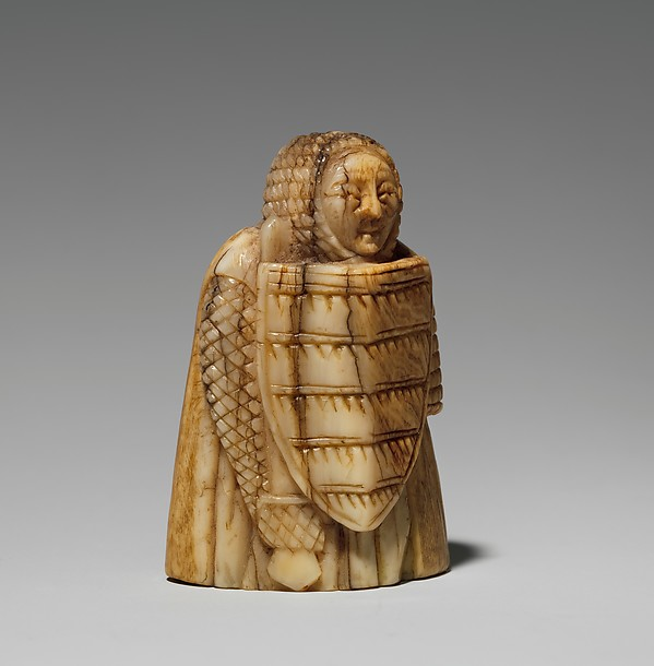 Rook or Pawn Chess Piece, Whale ivory, Scandinavian