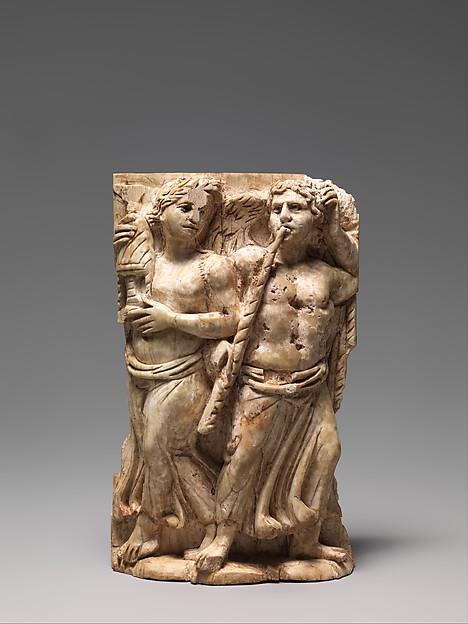 Bone Carving, Possibly of a Dionysiac Revel, Ivory, Byzantine