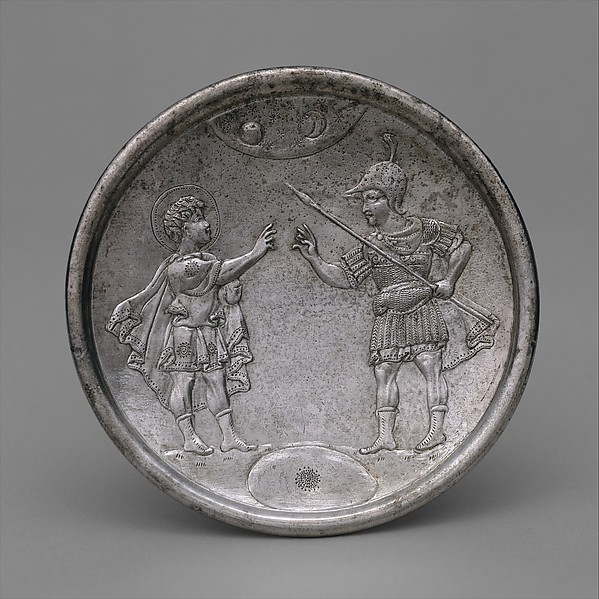 Plate with David's Confrontation with Eliab, Silver, Byzantine