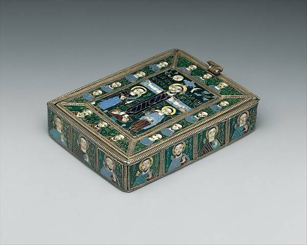 The Fieschi Morgan Staurotheke, Gilded silver, gold, enamel worked in cloisonné, and niello, Byzantine