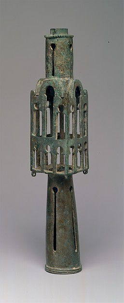 Base for a Cross, Copper alloy: leaded medium-tin bronze with a significant trace of zinc, Byzantine