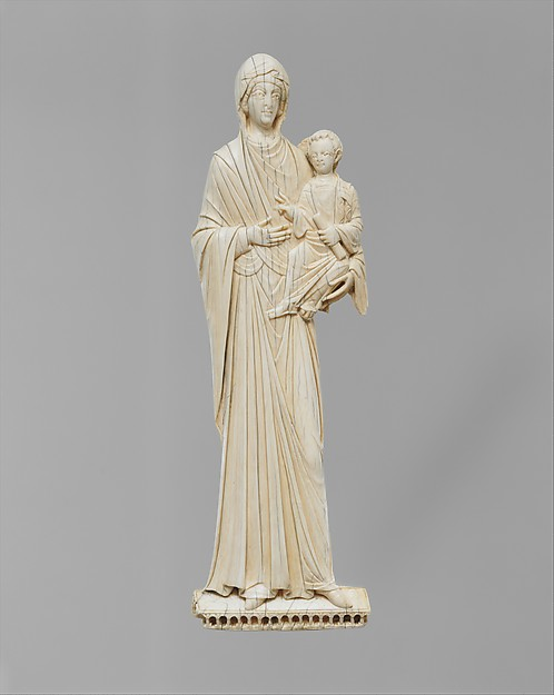 Icon with the Virgin and Child, Ivory, Byzantine
