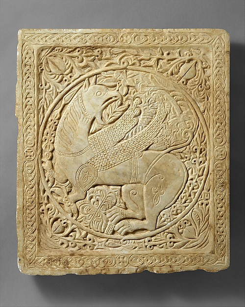 Panel with a Griffin, Marble, Byzantine