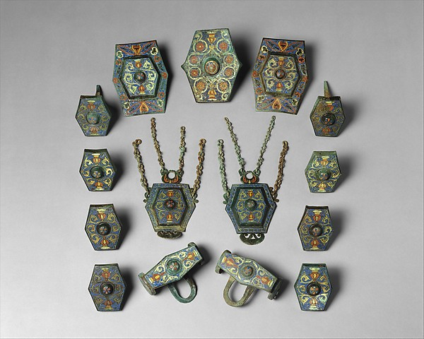 Harness Ornaments, Copper alloy, champlevé enamel, Late Roman or Byzantine