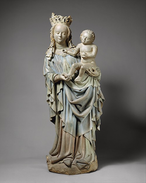 Virgin and Child, Sandstone, polychromy, German