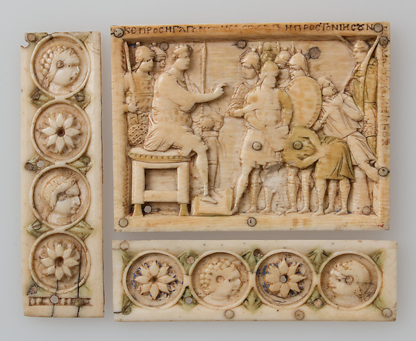 Casket Plaque, Ivory, traces of polychromy, Byzantine