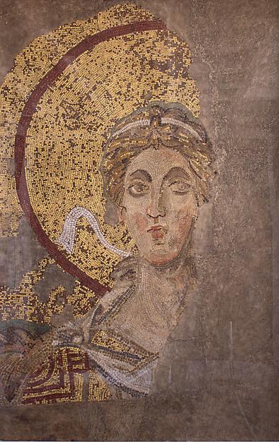 Archangel Gabriel, Plaster cast, paint, Byzantine