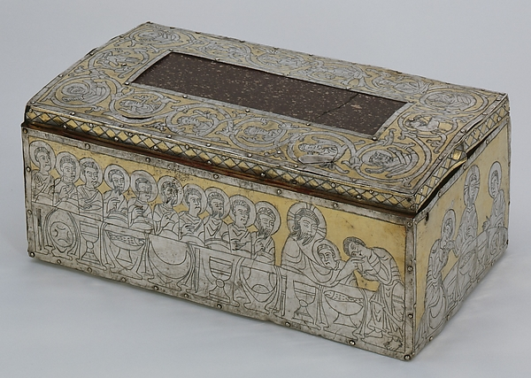 Portable Altar, Silver, with niello and gilding, porphyry and unknown stone; wood core, German (Hildesheim)