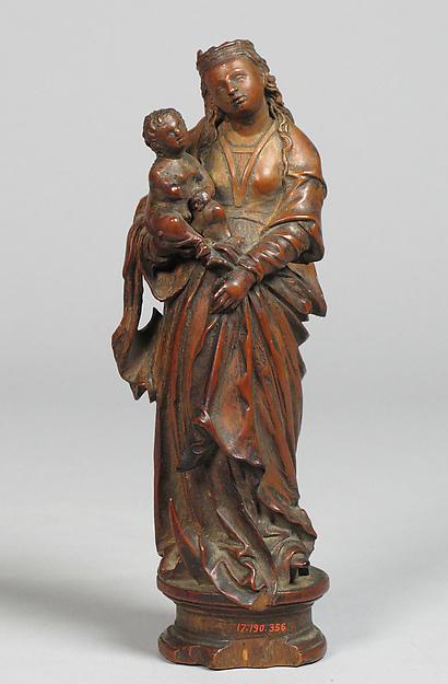 Virgin and Child, Boxwood, South Netherlandish