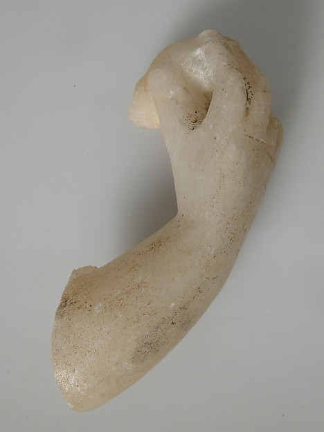Arm and Hand Fragment, Marble, Coptic