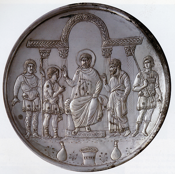 Plate with the Presentation of David to Saul, Silver, Byzantine