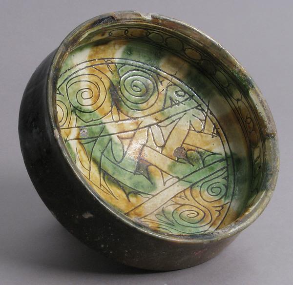 Bowl, Earthenware, glaze, Byzantine