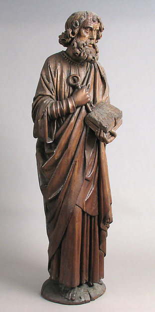St. Peter, Oak, traces of polychromy, French