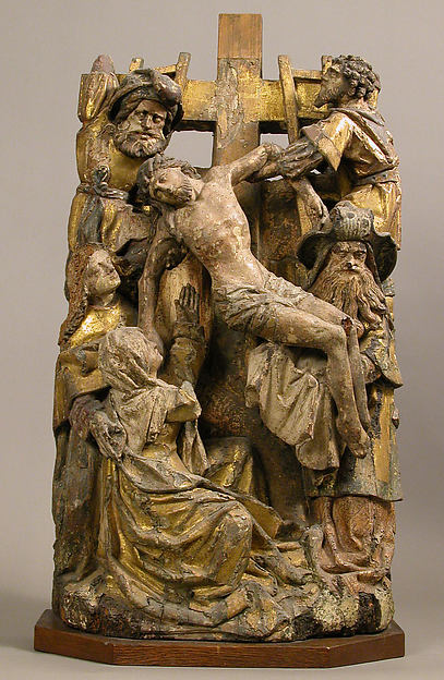 Descent from the Cross, Oak with polychromy and gilding, South Netherlandish