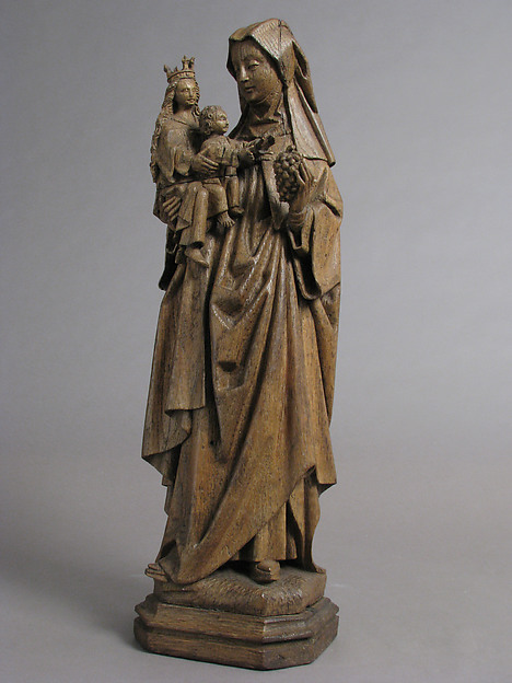 Saint Anne with Virgin and Child, Oak, South Netherlandish