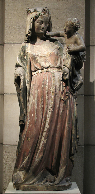 Virgin and Child, Limestone with traces of paint, French
