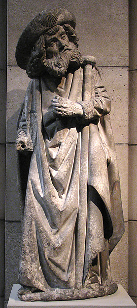 Saint James the Greater, Limestone, originally with paint, French