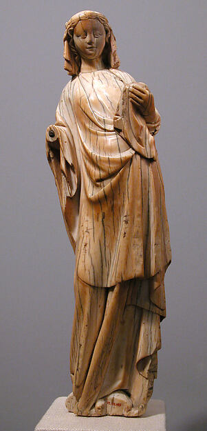 Standing Virgin and Child, Ivory, North French
