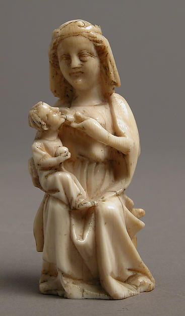 Virgin and Child, Ivory, French or German