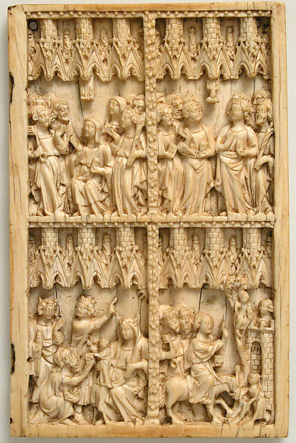 Right Leaf of a Diptych, Ivory, French