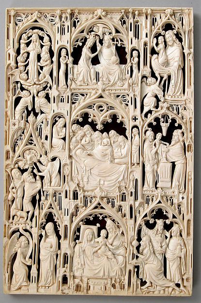 Leaf from a Diptych, Ivory, British or French (?)