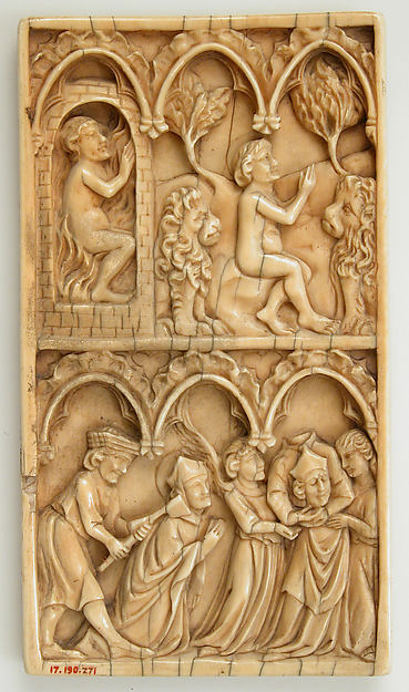 Leaf from a Diptych with two scenes from the Life of a Saint, Ivory, British