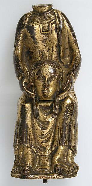 Saint Valerie, Copper repoussé gilt, French