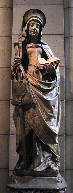 Saint Savina of Troyes or Saint Syra, Limestone with paint, French