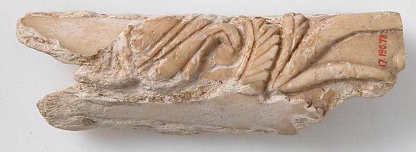 Relief Fragment with Floral Design, Bone, Coptic