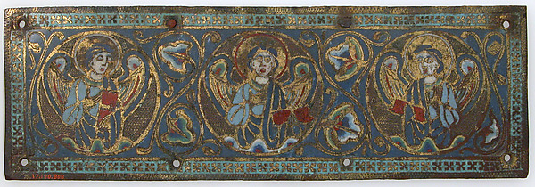 Plaque from a Chasse, Champlevé enamel, copper-gilt, French