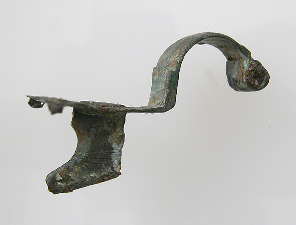 Pin Fragment, Copper alloy, Late Roman