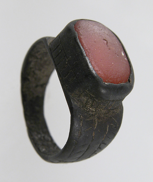 Finger Ring, Silver, carnelian, Frankish