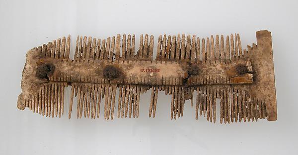 Double-Sided Comb, Bone, iron pins, Frankish