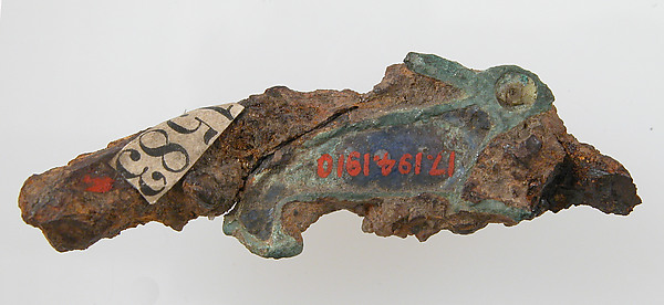 Pin, Champlevé enamel, copper alloy, Roman